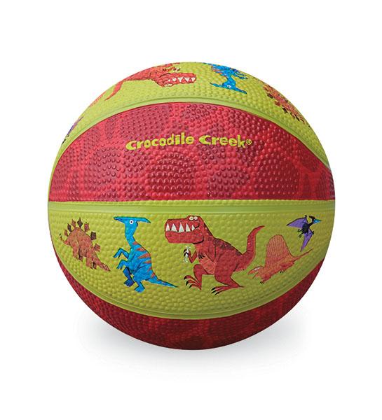 Basketball Dinosaurier grün rot Ø 14 cm