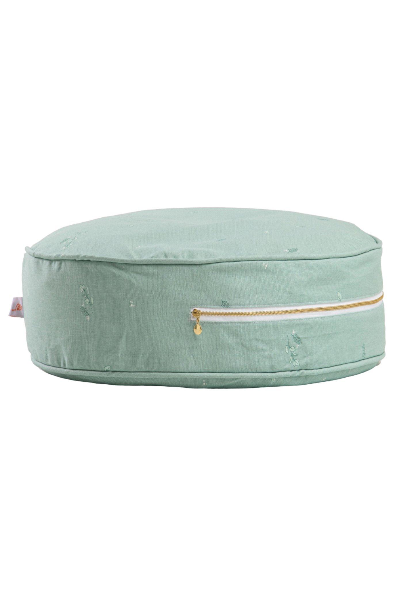 rundes Sitzkissen Ottomane mintgrün