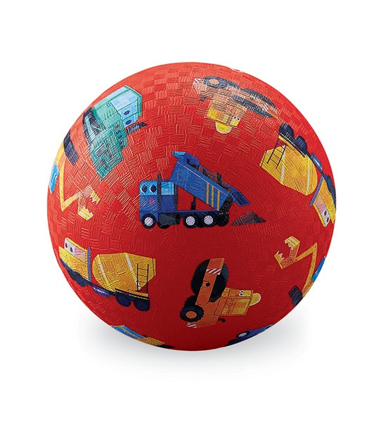 Naturkautschuk Ball Baustellenfahrzeuge rot Ø 13 cm