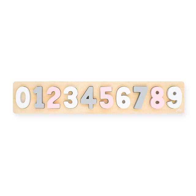 Jollein Holz Puzzle Zahlen rosa