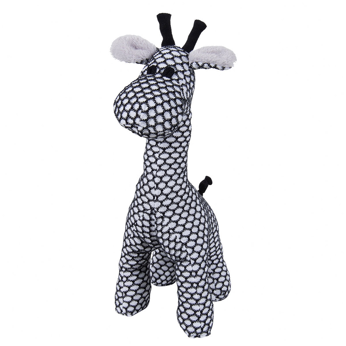 Plüschtier Stofftier Giraffe stehend Sun schwarz / weiß
