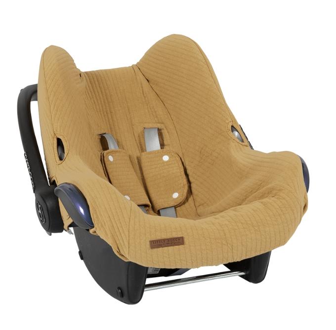 Bezug für Babyschale Pure ocker gelb