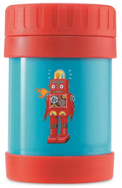 Thermodose Roboter rot blau