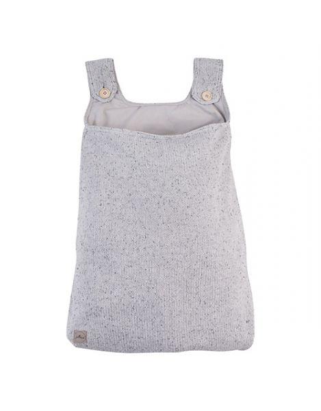 Aufbewahrungstasche Beutel Strick Konfetti Knit grau