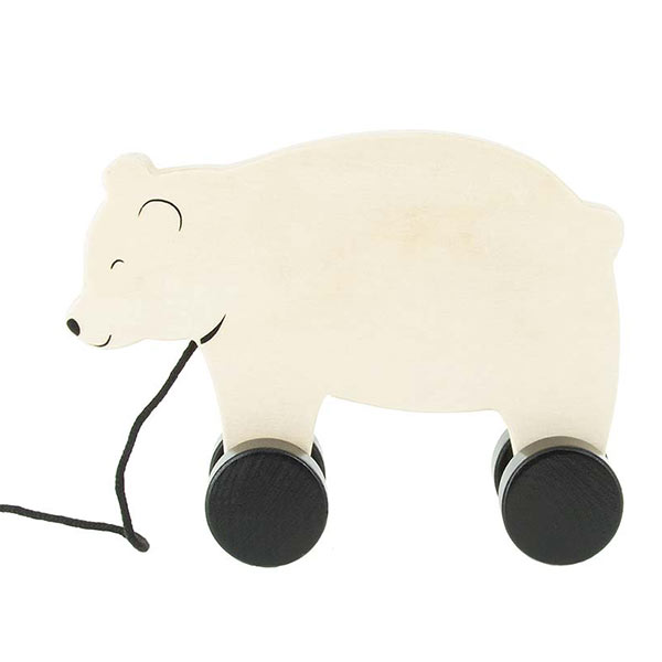 Holz Nachziehtier Bär