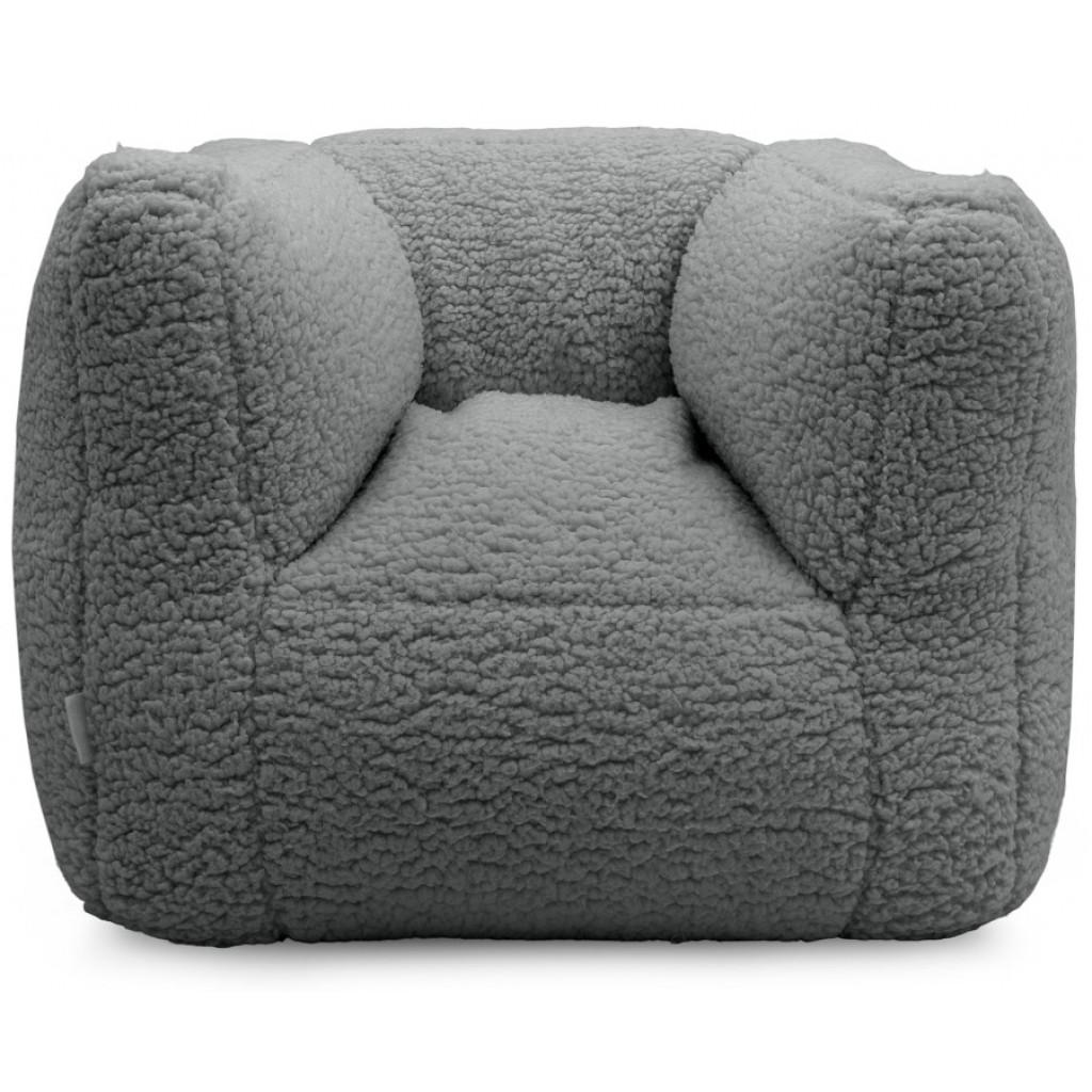 Kindersessel Sitzsack Teddy grau