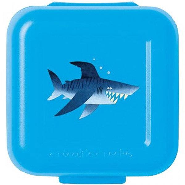 Snackbox 2er Haifisch hellblau