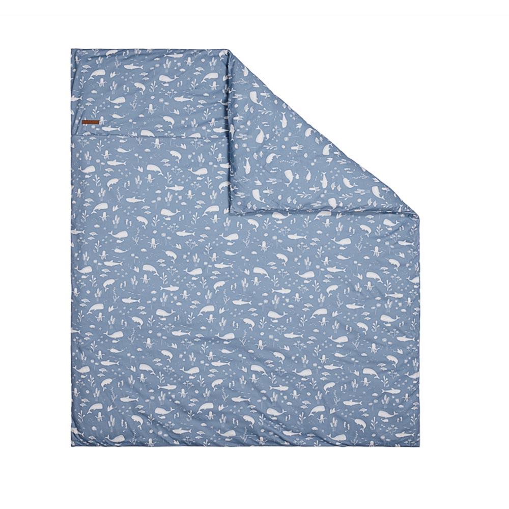 Kinderwagen Kissenbezug Ocean blau (Gr. 80x80 cm)