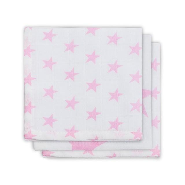 Jollein Spucktücher Musselin Sterne rosa 3er Set AV!!!