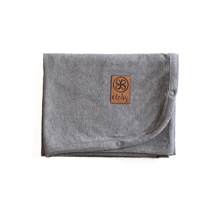 Decke mit UV-Schutz (UPF 50+) grau (Gr. 95x73 cm)
