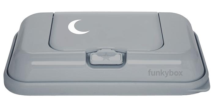 Feuchttücher Aufbewahrungsbox ToGo Mond grau