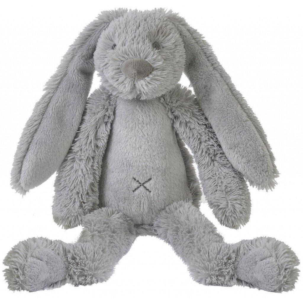 Plüsch Hase Kaninchen Stofftier Kuscheltier grau 28 cm