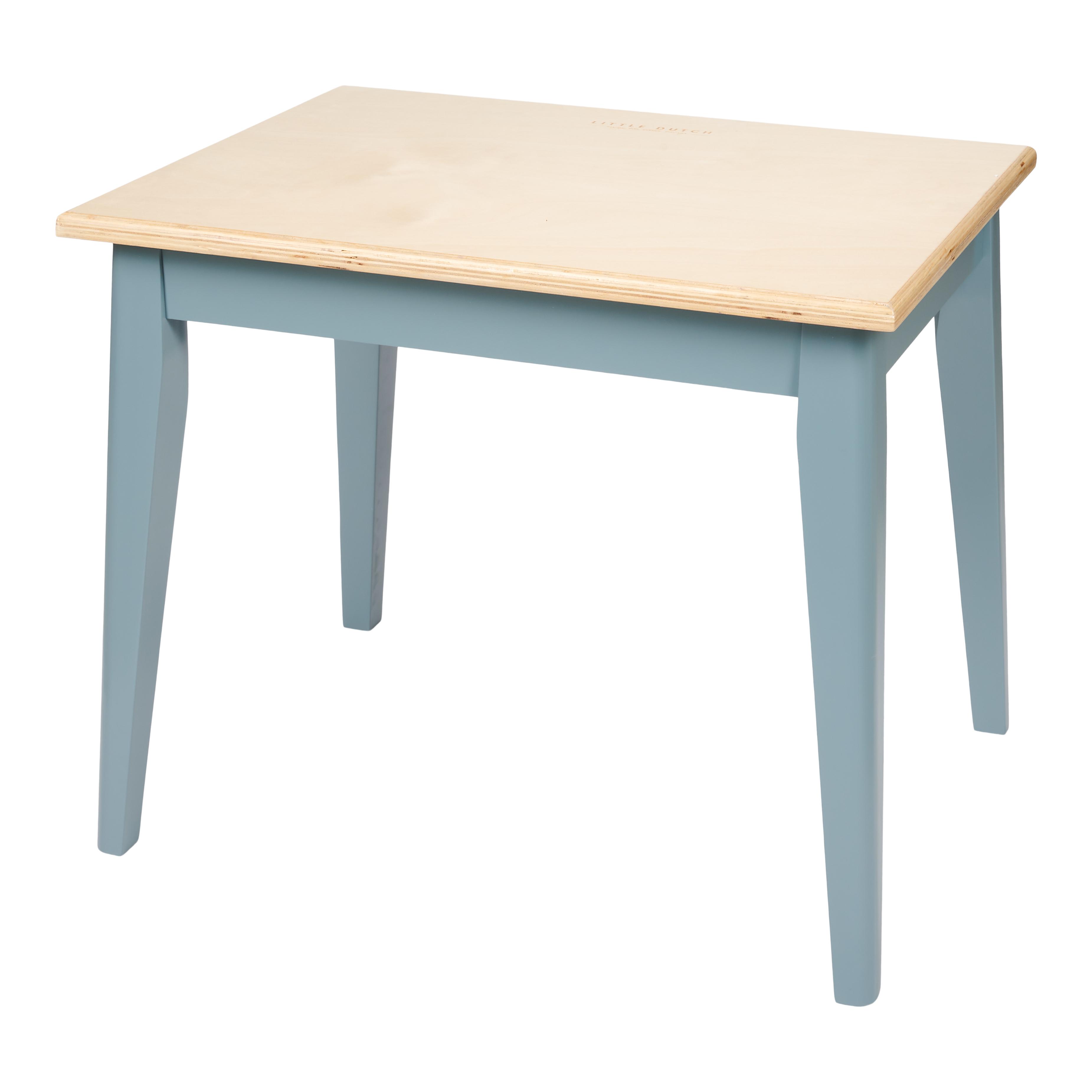 Holz Kindertisch blau