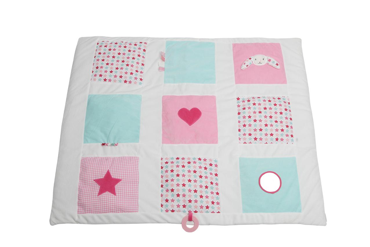 Activity Krabbeldecke Hase Mixed Stars rosa 85x100 cm