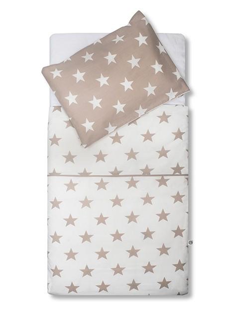 Bettwäsche Sterne sand 100x140 cm + 40x60 cm