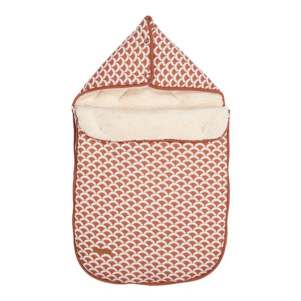 Fußsack für Babyschale Sunrise rost orangerot