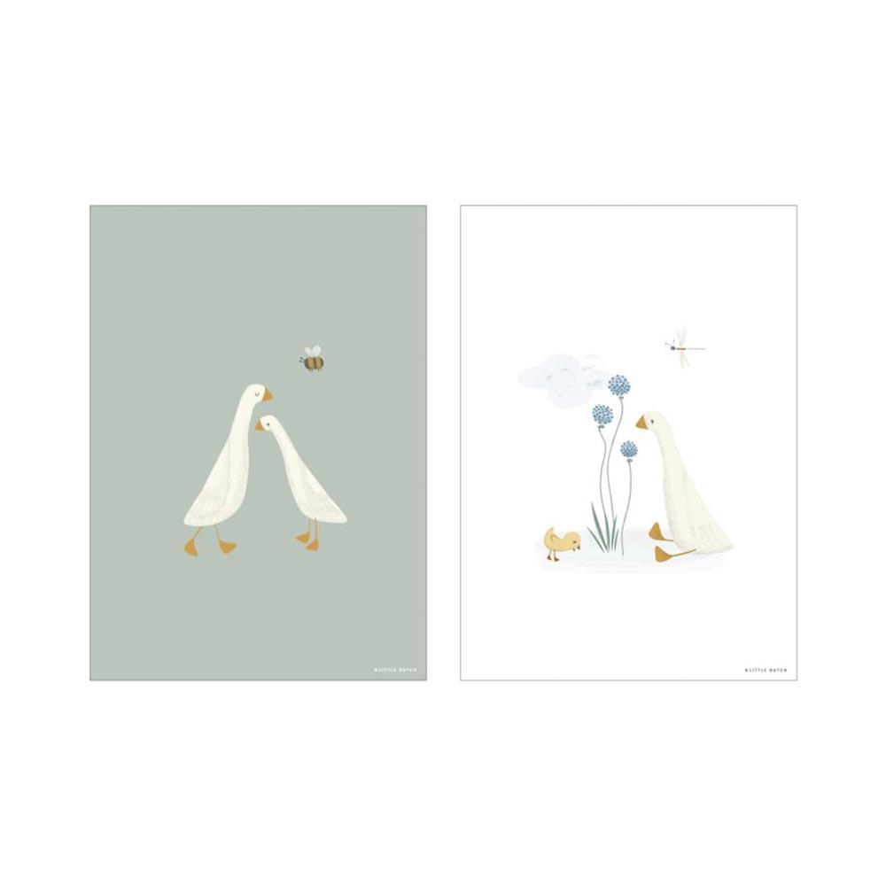 Poster A3 2 bedruckte Seiten Little Goose / kleine Gans