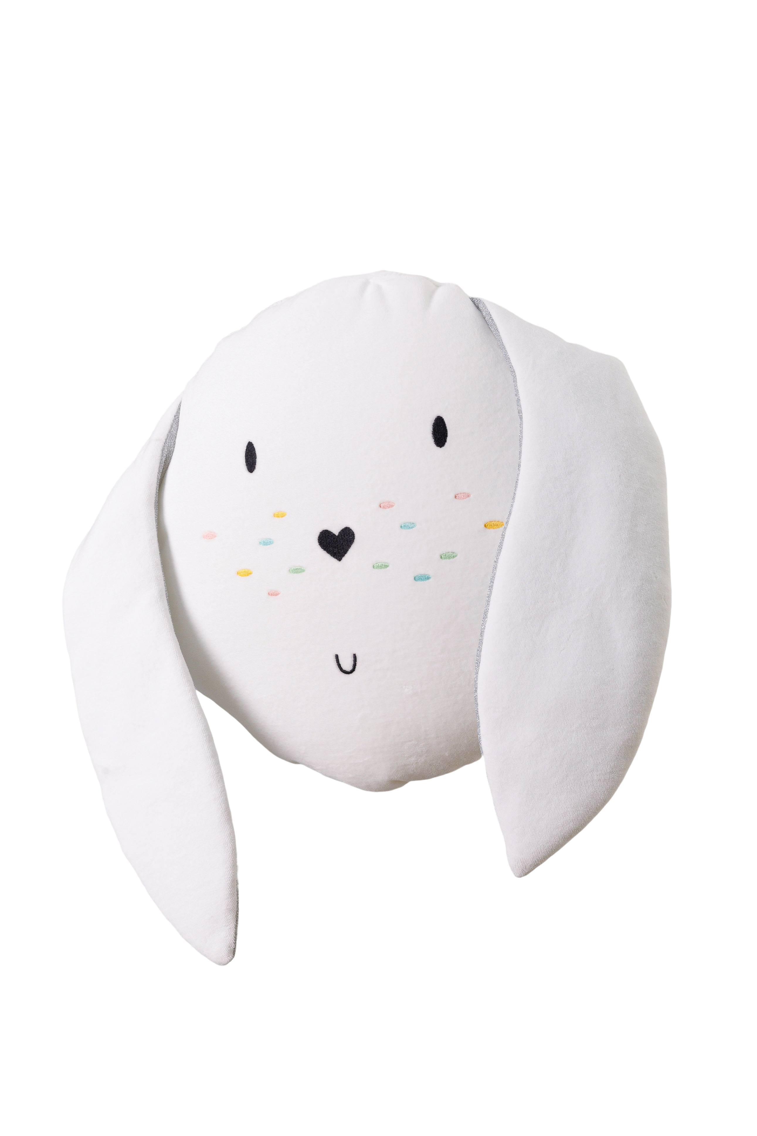 Wigiwama Samt Spielkissen Hase weiß 35 cm