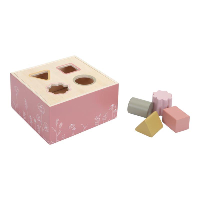 Holz Steckspiel mit Formen Wild Flowers rosa