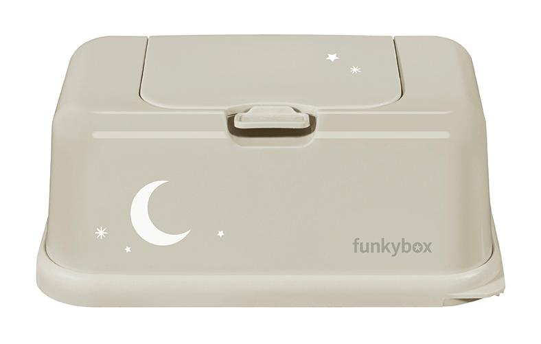 Feuchttücher Aufbewahrungsbox Mond und Sterne sandbeige
