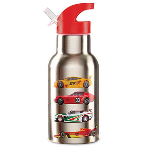 Isolierflasche Thermosflasche Trinkflasche aus Edelstahl Rennwagen rot