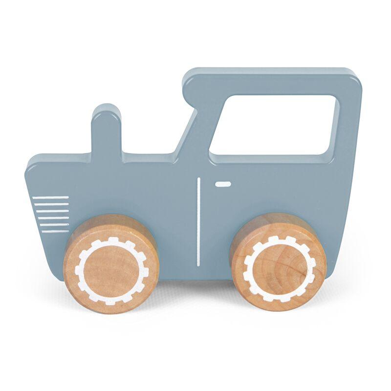Holzauto Traktor blau