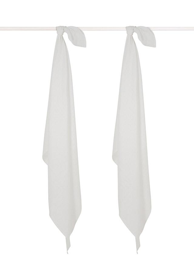 Mulltücher Swaddle  2er Set weiß (Gr. 115x115 cm)