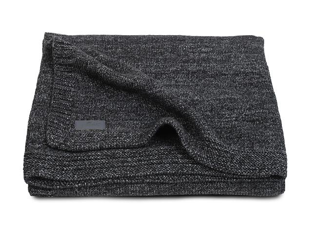 Decke Natural Knit anthrazit Gr. 75x100 cm