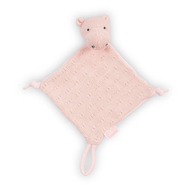 Strick Schmusetuch Kuscheltuch Schnullertuch Nilpferd Soft Knit pfirsich rosa