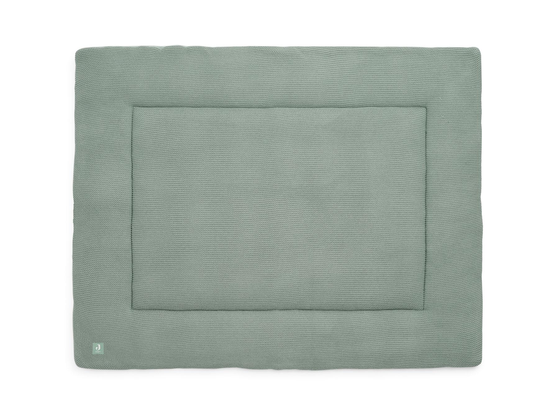 Laufgittereinlage Krabbeldecke Strick Basic Knit stone green (80x100 cm)