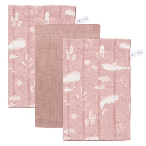 Waschlappen Ocean rosa 3er Set