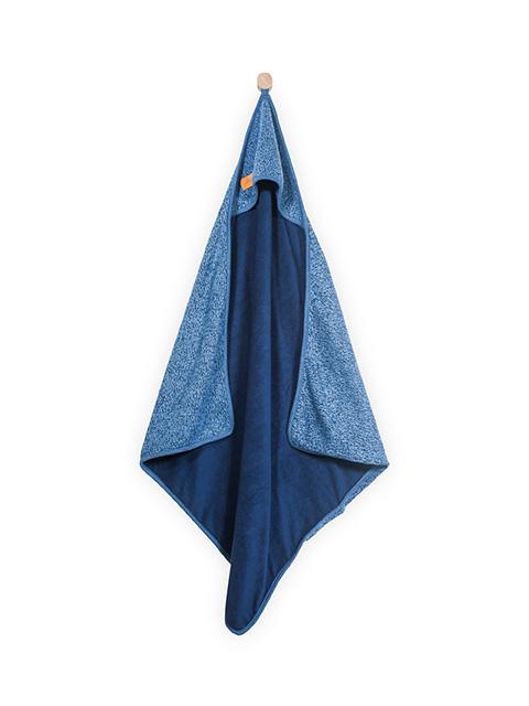 Kapuzenhandtuch Stonewashed blau 75 x 75 cm