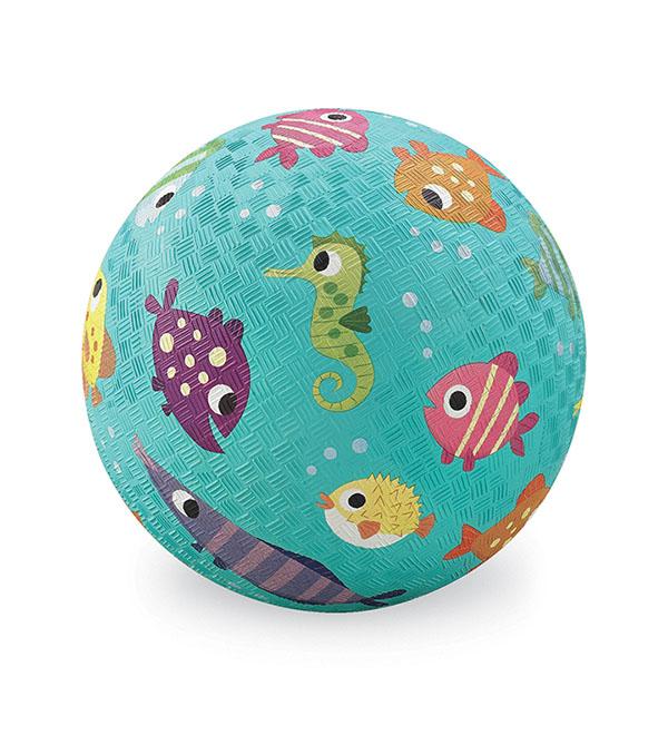 Naturkautschuk Ball Fische hellblau Ø 13 cm