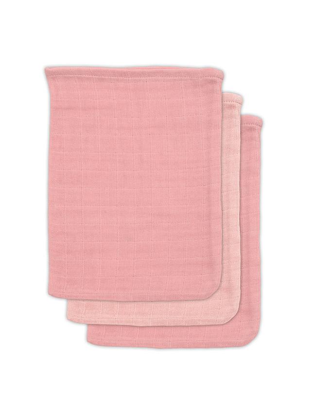 Jollein Waschlappen Bambus rosa 3er Set