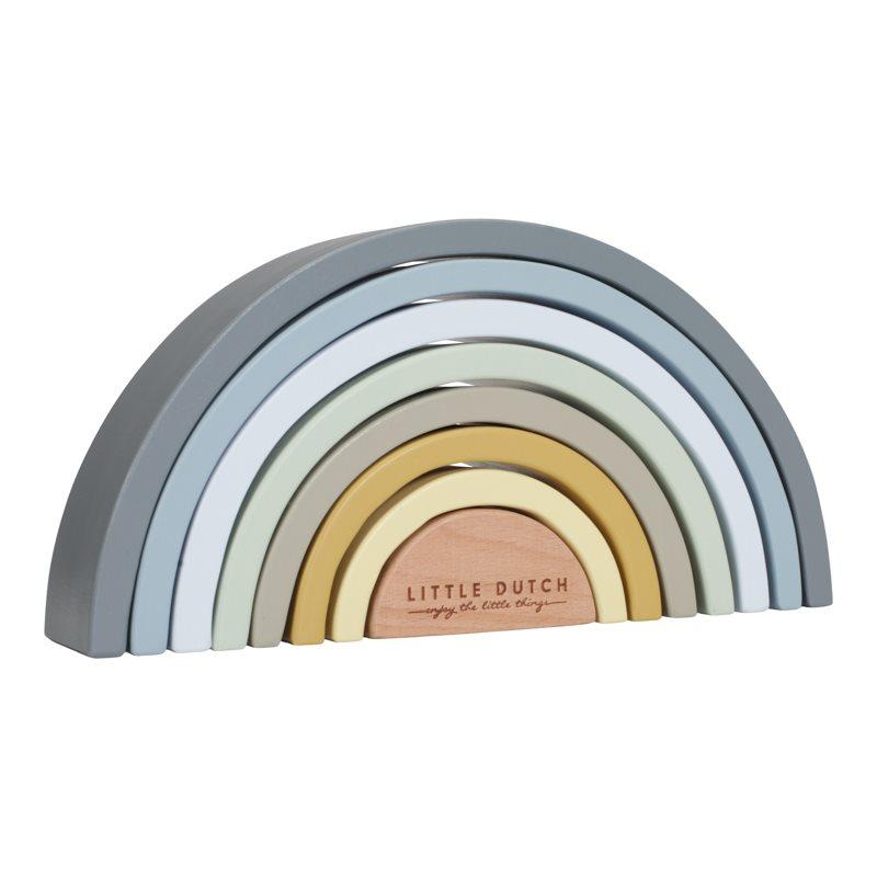 Holz Regenbogen puderblau