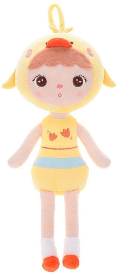 Stoffpuppe Ente Entchen Mädchen gelb 45 cm