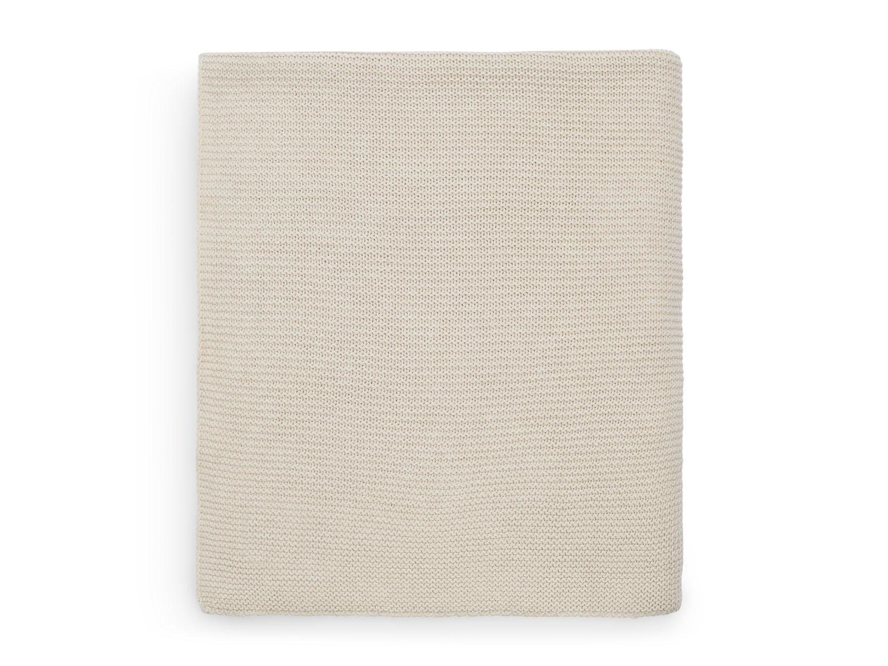 Babydecke Strickdecke Basic knit Nougat cremebeige (Gr. 75x100 cm)