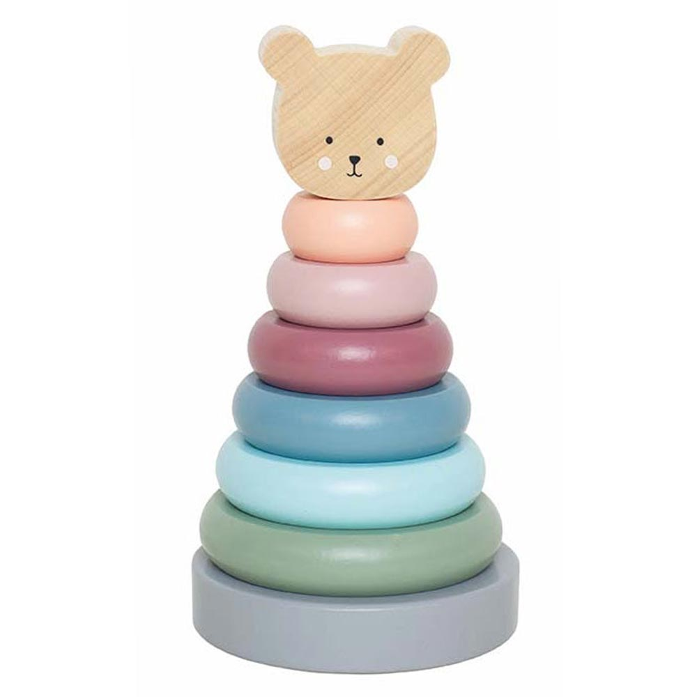 Holz Ring Stapelturm Teddy