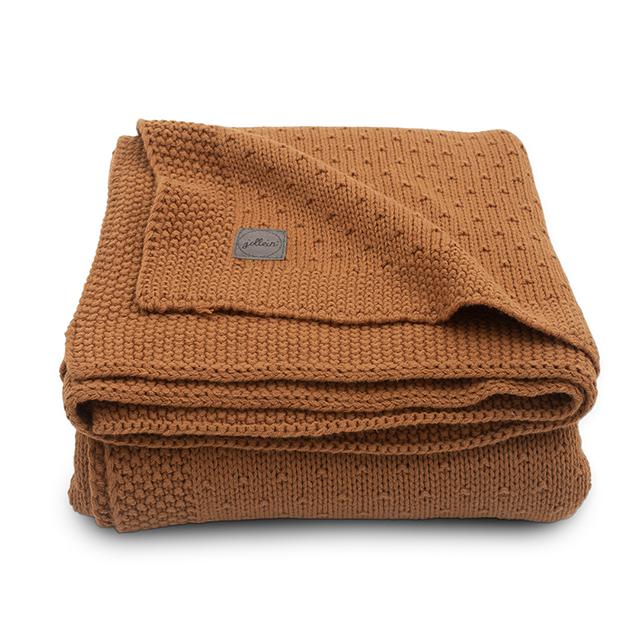 Baby Strickdecke Bliss Knit Karamell rostbraun (Gr. 75x100 cm)