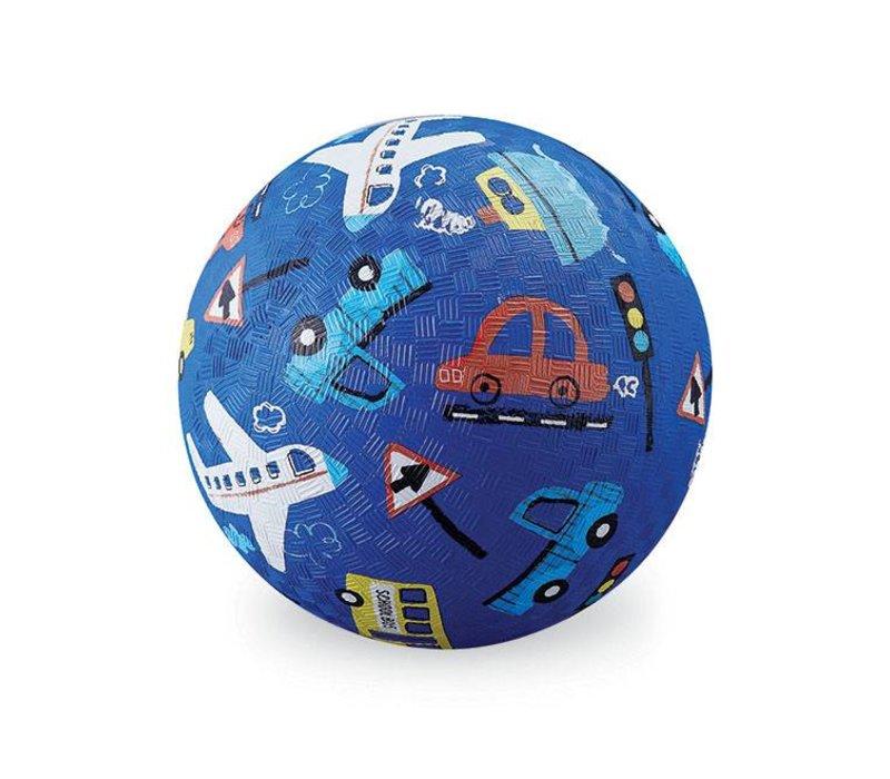 Naturkautschuk Ball Fahrzeuge blau Ø 13 cm