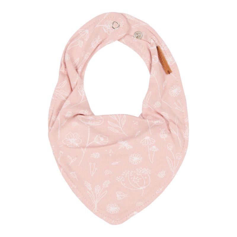 Bandana Lätzchen Halstuch Wild Flowers rosa