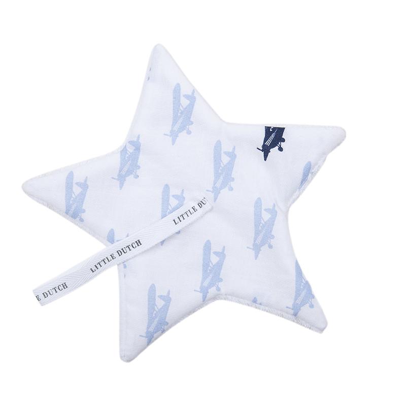 Schnullertuch Stern Flugzeug blau