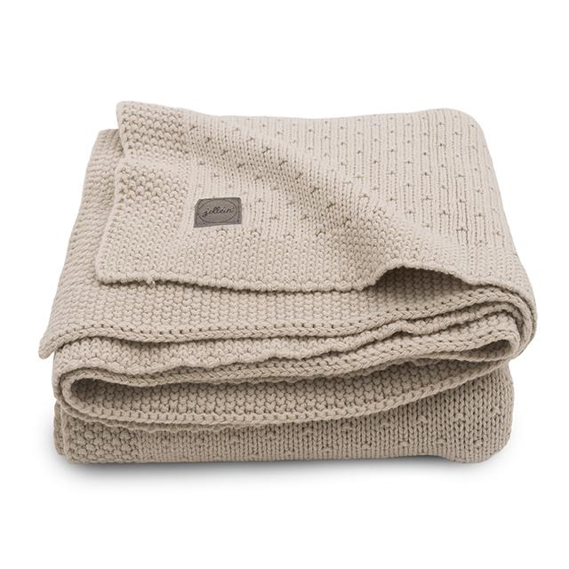Babydecke Strickdecke Bliss Knit Nougat cremebeige (Gr. 75x100 cm)
