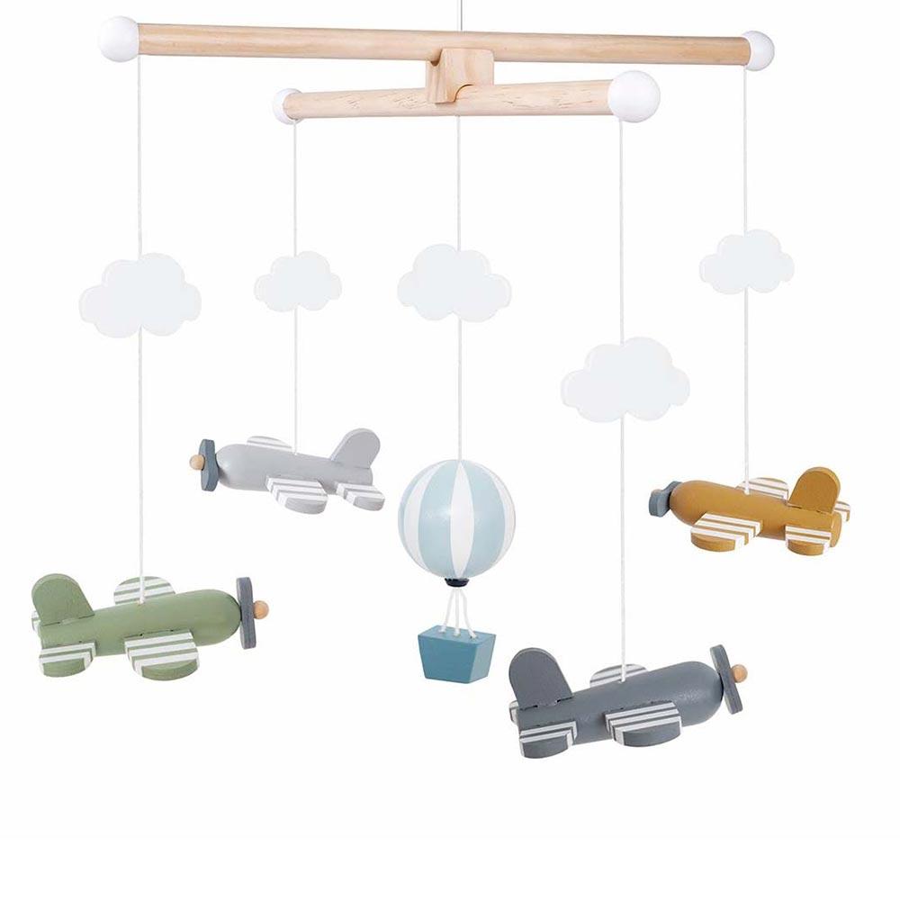Mobile Holz Flugzeuge bunt