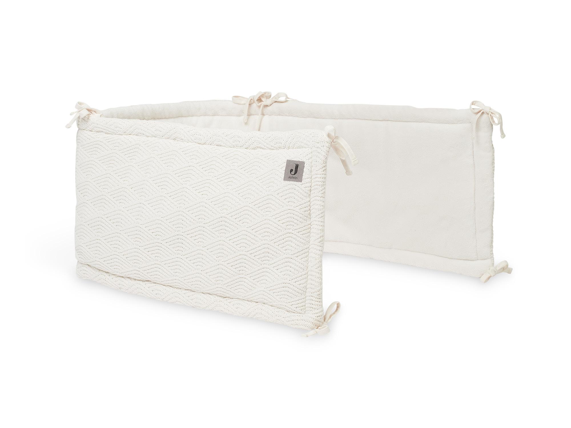 Bettnestchen Strick River Knit creme weiß (Gr. 35x 180 cm)