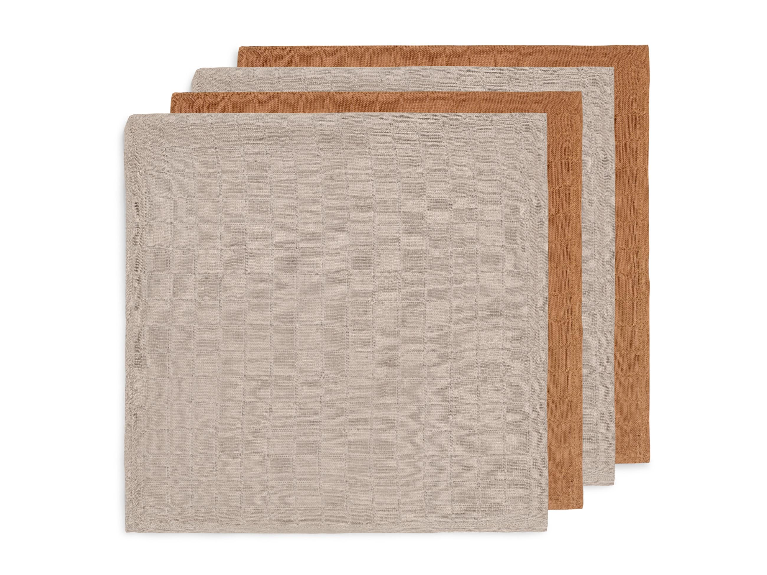 Mulltücher Bambus 4er Set karamell (Gr. 70x70 cm)