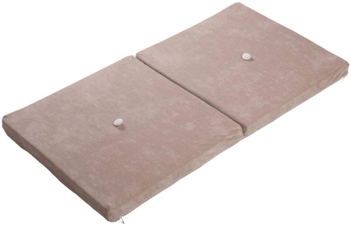 Samt Sitzkissen faltbare Spielmatte puderbeige