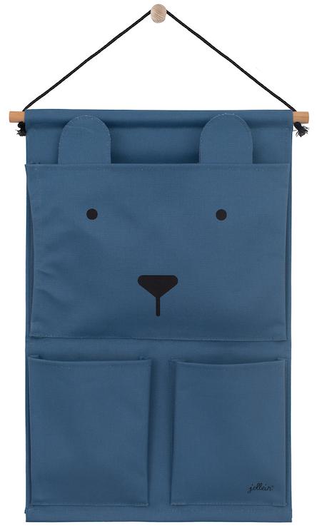 Aufbewahrungstasche für die Wand Wandorganizer Animal Club Bär blau