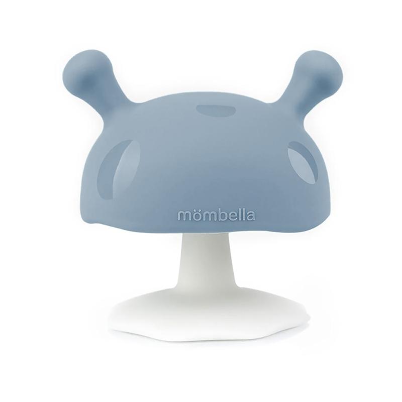 Beißring Silikon Pilz hellblau