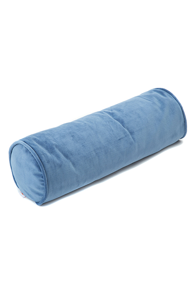 Samt Kissenrolle blau 60 cm ø20 cm